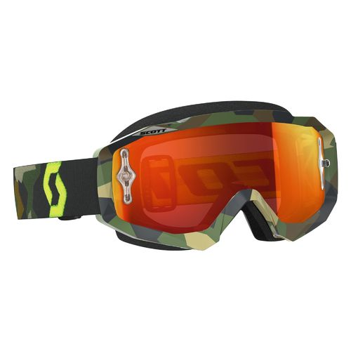 Maschera Cross Scott Hustle MX grey/fluo yellow/orange chrome works