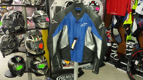 Alpinestars TX-1 Leather Jacket Blu/Nero Tg.48