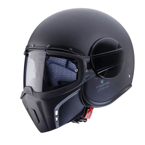 Casco Jet Caberg Ghost Jet in Fibra Nero Matt