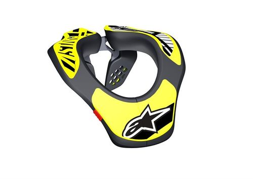 Youth Neck Support Alpinestars Black Yellow Fluo Bambino