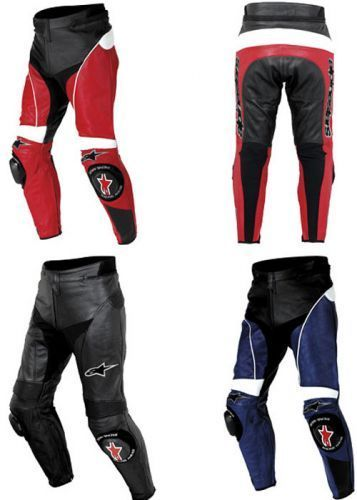 Pantaloni Moto Pelle Alpinestars Track Leather Pants Red Black