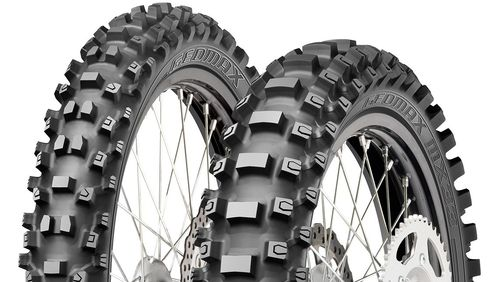 Coppia Gomme Cross Dunlop MX 33 Geomax 80/100-21 + 100/90-19