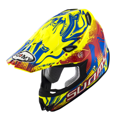 Casco Cross Suomy Mr Jump Graffiti red yellow